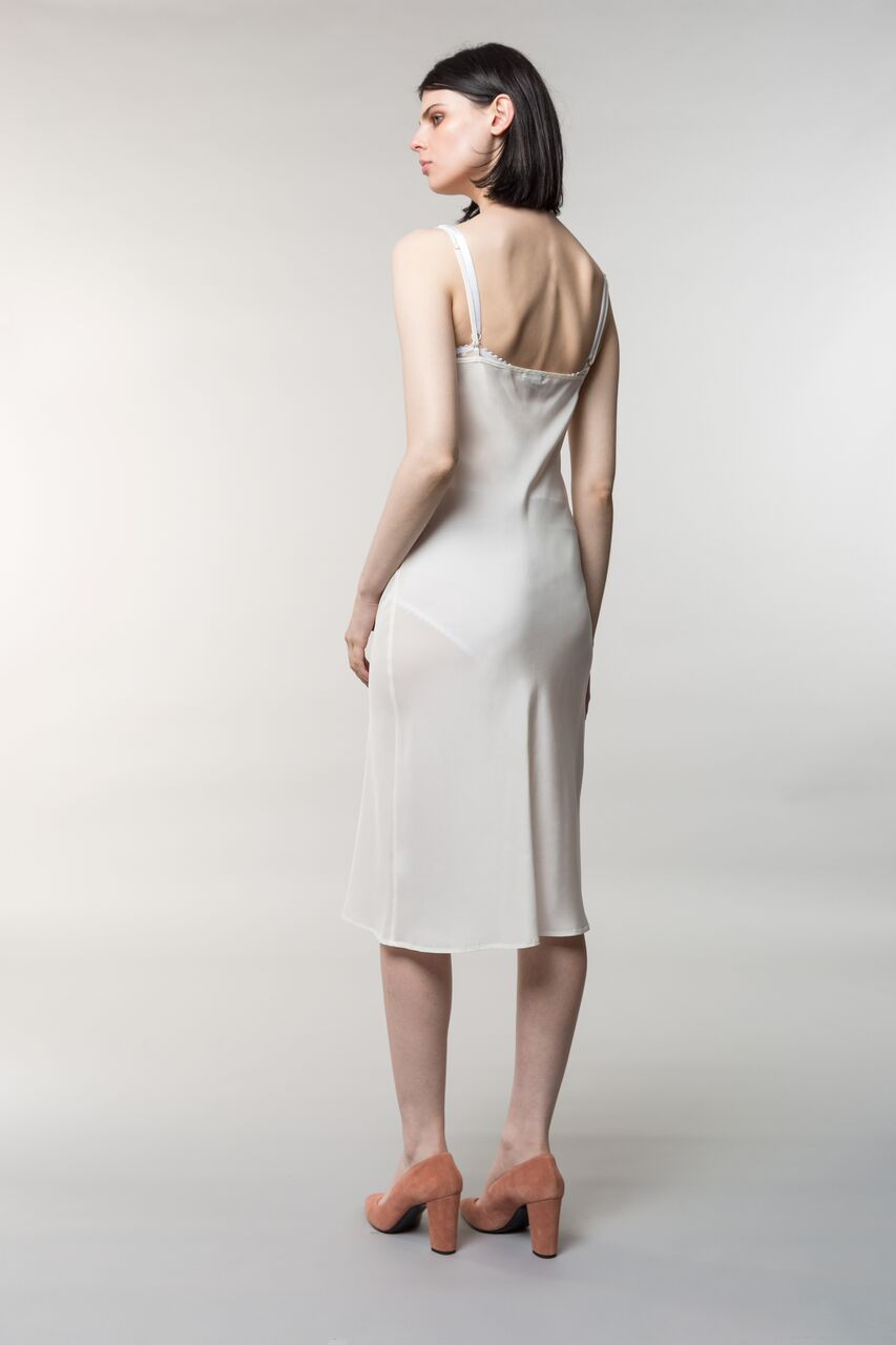 Hedi slip, silk, cream