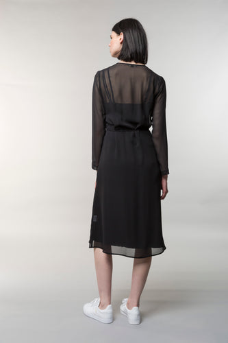 Charlotta day dress, silk, black