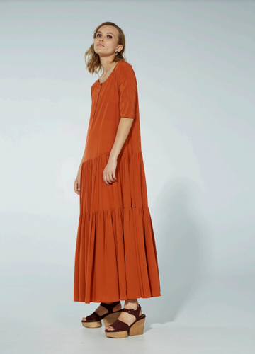 Archive - Olya Dress, SS18, umber