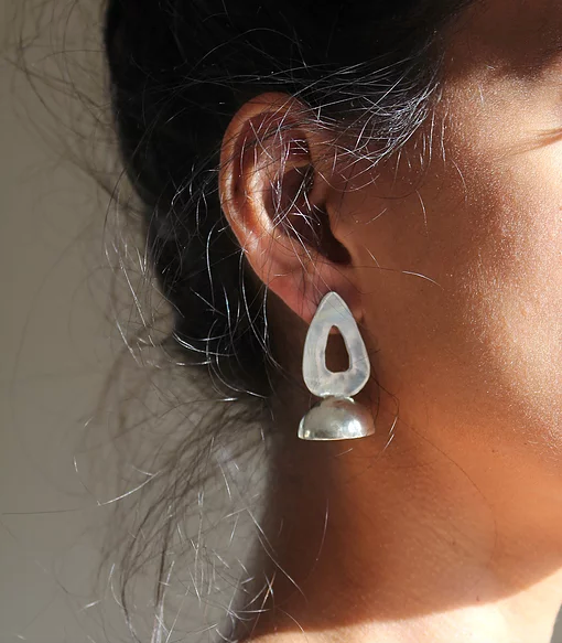 Series 5, earring 2, sterling silver