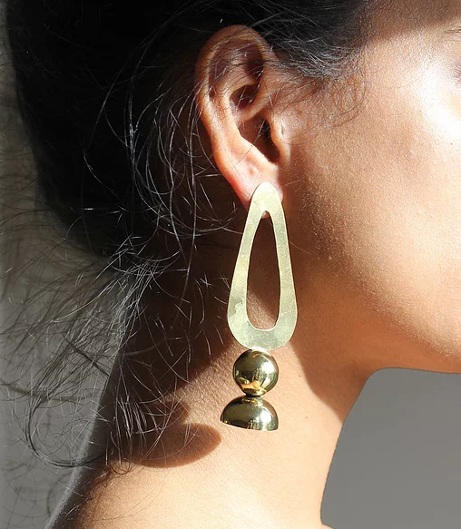 Series 5, earring 3, gold plated