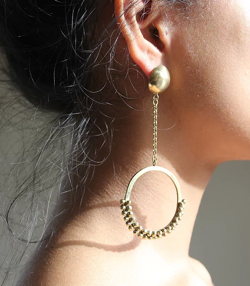Series 5, earring 7, gold plated