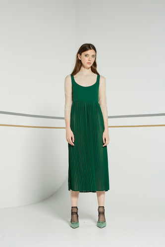 Nikola dress, cacti green