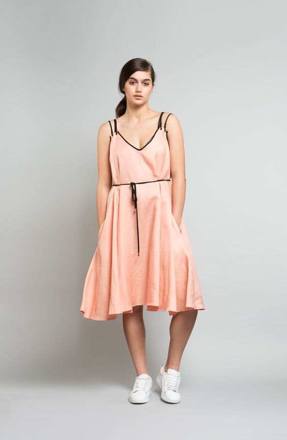 Archive - Cycad dress, linen, pink shell