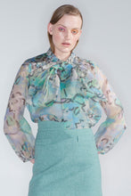 Florence organza shirt, found flowers