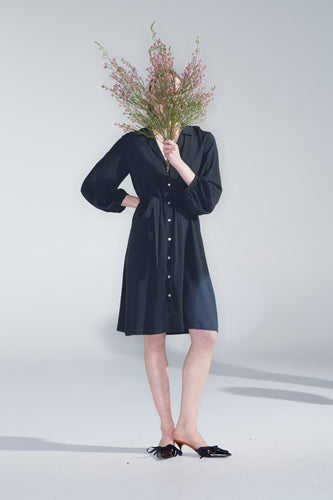 Fleur shirt dress, oil green
