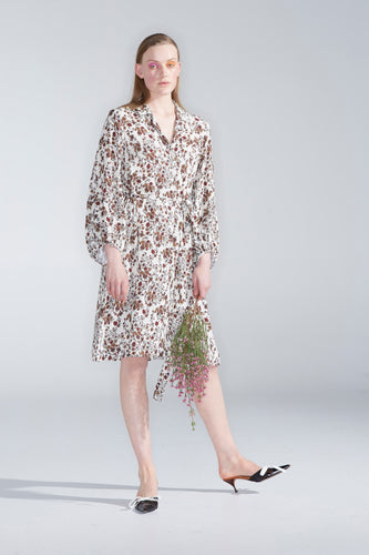 Fleur shirt dress, head of roses