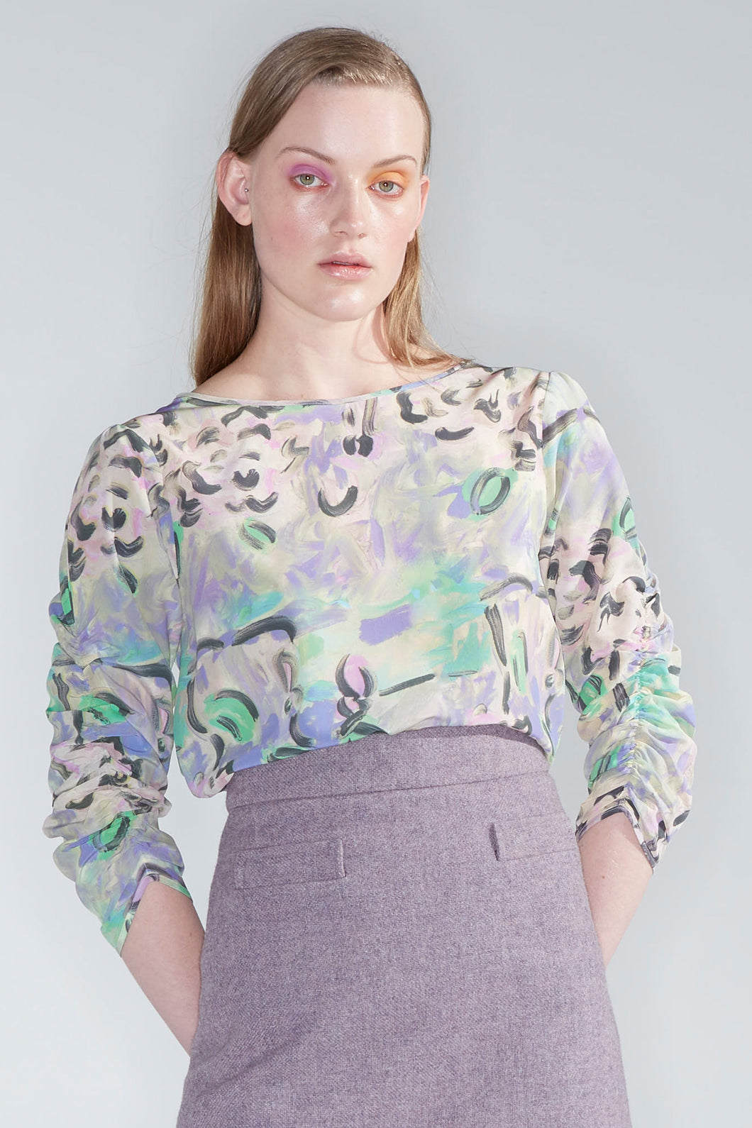 Harmony top, found flowers