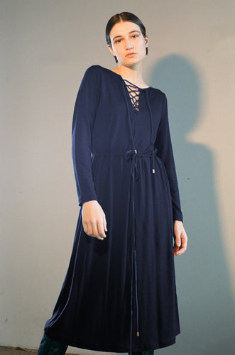 Hero dress, merino, navy