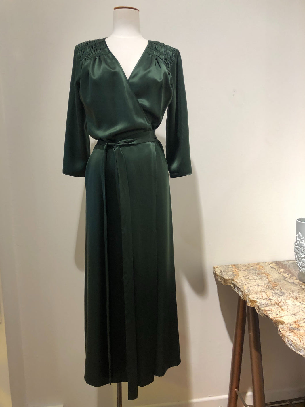Sample - Presley wrap dress, green