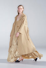 Joella trench, gold foil