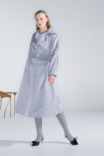Joella trench, silver grey - MADE TO ORDER