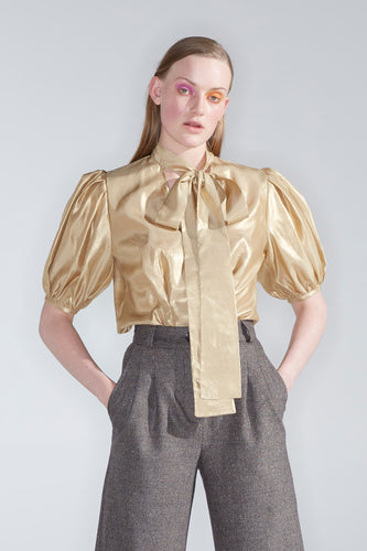 Lorca top, gold foil