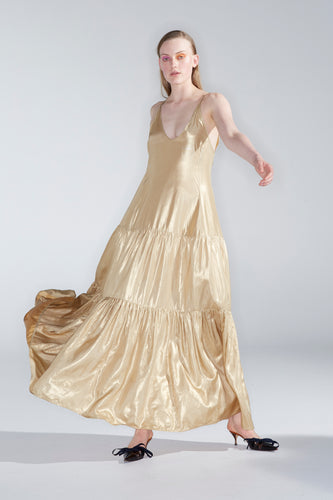 Moonlight dress, gold foil