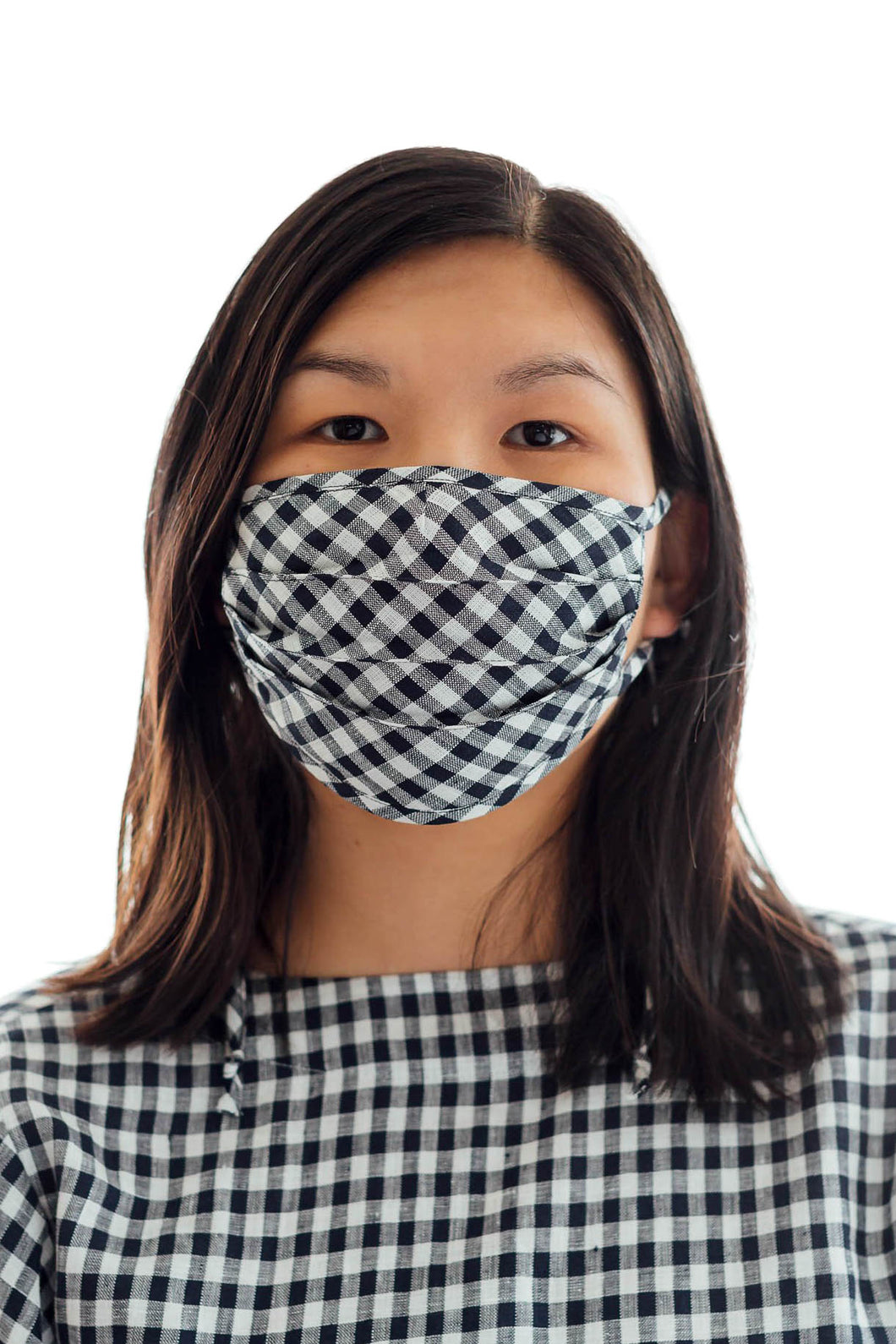 Set of two, gingham mask