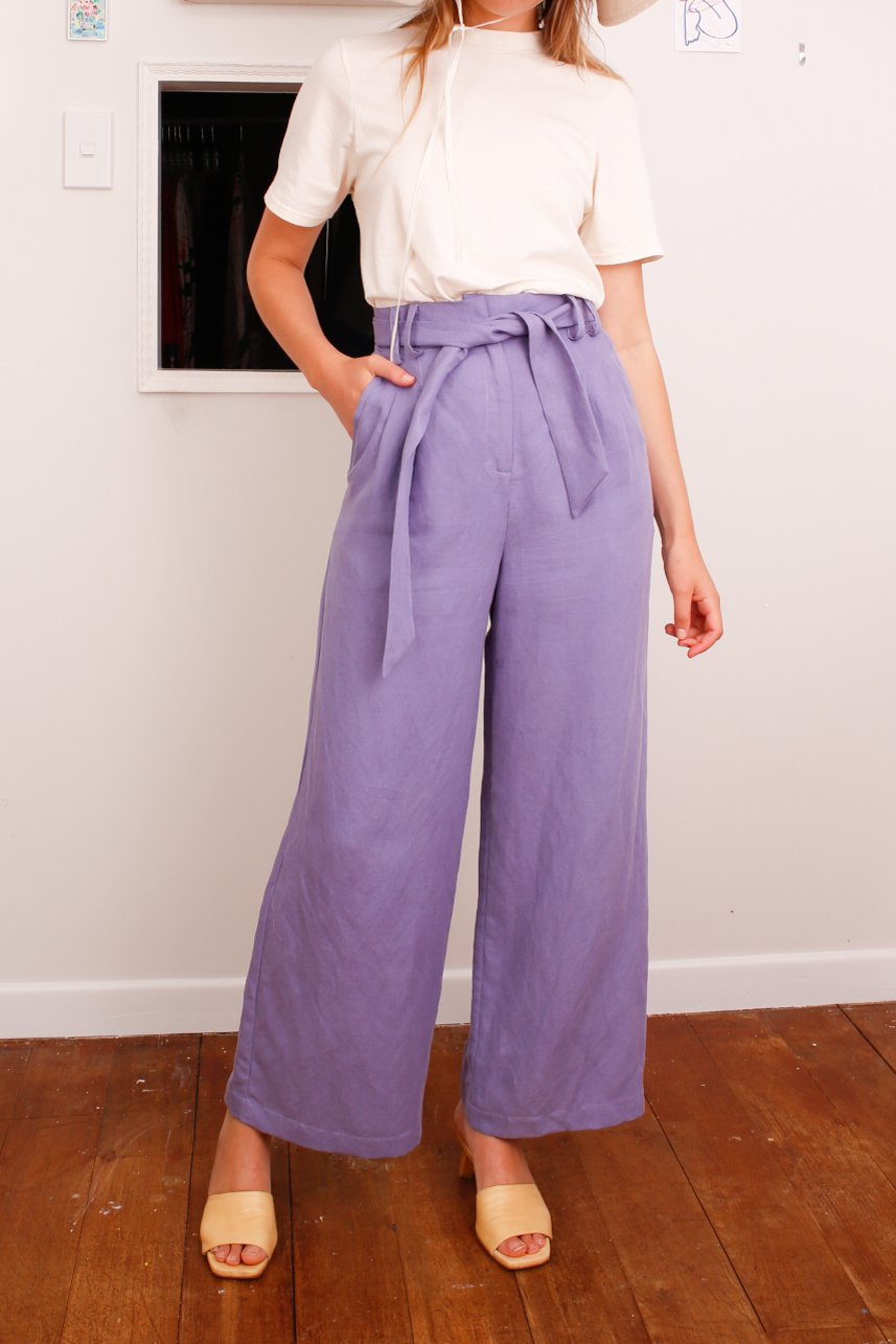 Sample - Rhodes trousers, Lavender