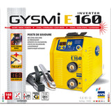 Hλεκτροκόλληση Inverter Gysmi E160, 160A, made in France - mytoolstore.gr