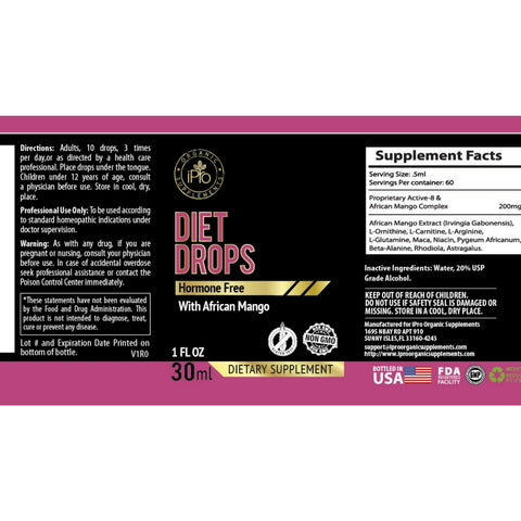 Diet Drops, Ultra Drops 1oz