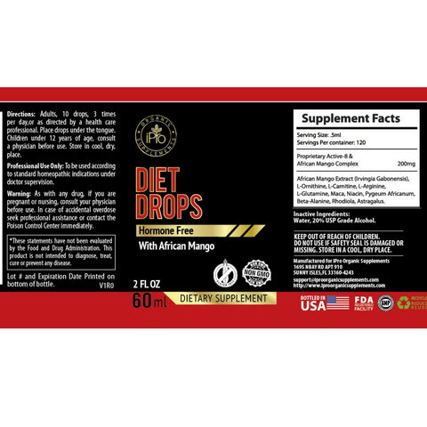 Diet Drops ,Ultra Drops 2oz