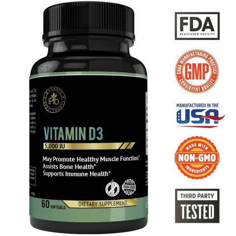 Vitamin D3 (5000iu) Soft Gels