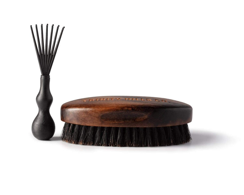 best wave brush for coarse hair - boars hair wave brush - mens natural products - trinity hills co