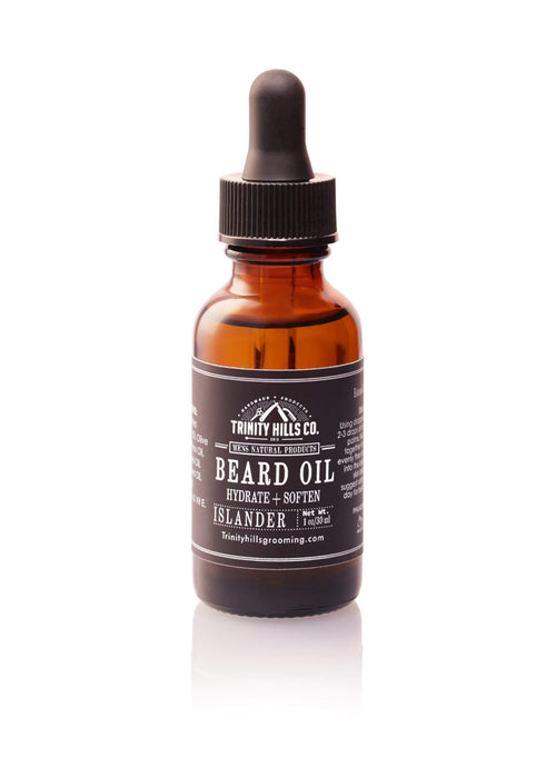 Beard  oil - Mens Natural Grooming Products - Trinity Hills Co - beard growth oil - beard care