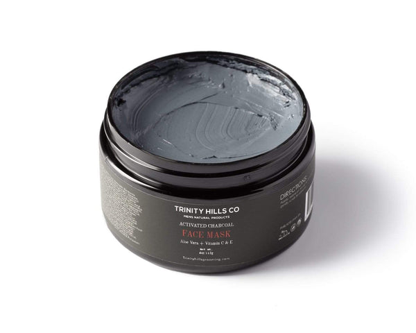 Activated charcoal face mask for men - face mask for acne - black men skincare - anti-aging for men - anti acne - Men's natural products - Trinity hills co