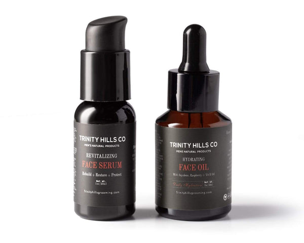 2 Piece Hydration + Revitalzing kit - Mens anti-aging kit - mens natural products - trinity hills co