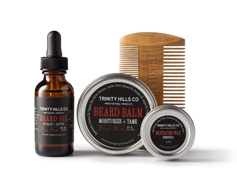 beard kits for black men - beard kits for men - black mens beard - mens natural products - trinity hills co - best beard comb for coarse hair