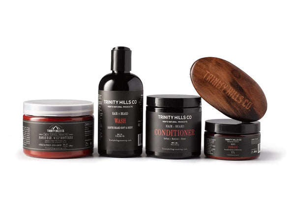 5-pc wave kit for black men - black men hair products - men's natural products - trinity hills co