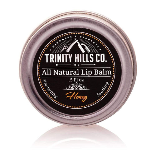 all natural lip balm, honey, mint. Trinity Hills Co. - Mens Natural Products