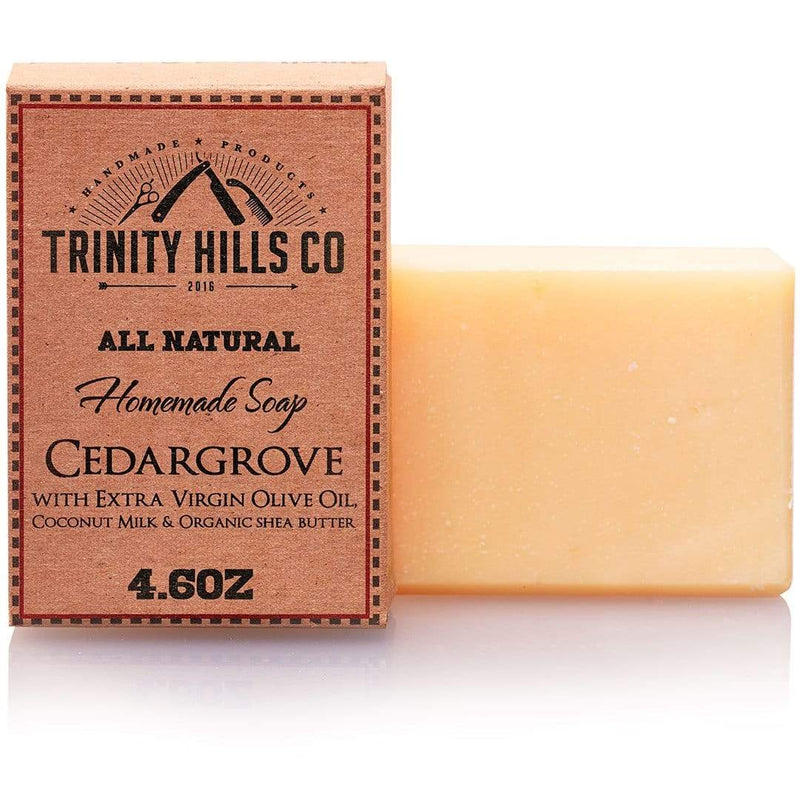 Cedargrove Body Soap - Mens natural products - Trinity Hills Co - all natural soap - handmade soap - essential oils - skin care - dry skin treatment - bar soap