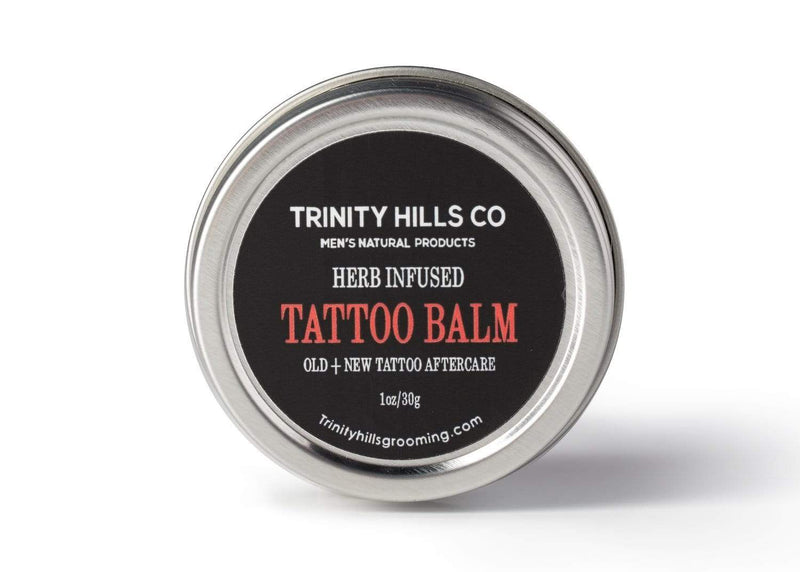 Herb infused tattoo balm for new and old tatoos - tattoos and guns - new ink - tatt care - Men's natural products - Trinity Hills Co