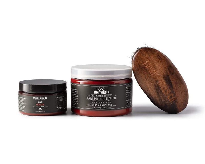 3-Pc wave kit - Mens's Natural Products - Trinity Hills Co - Wave kit for black mens hair