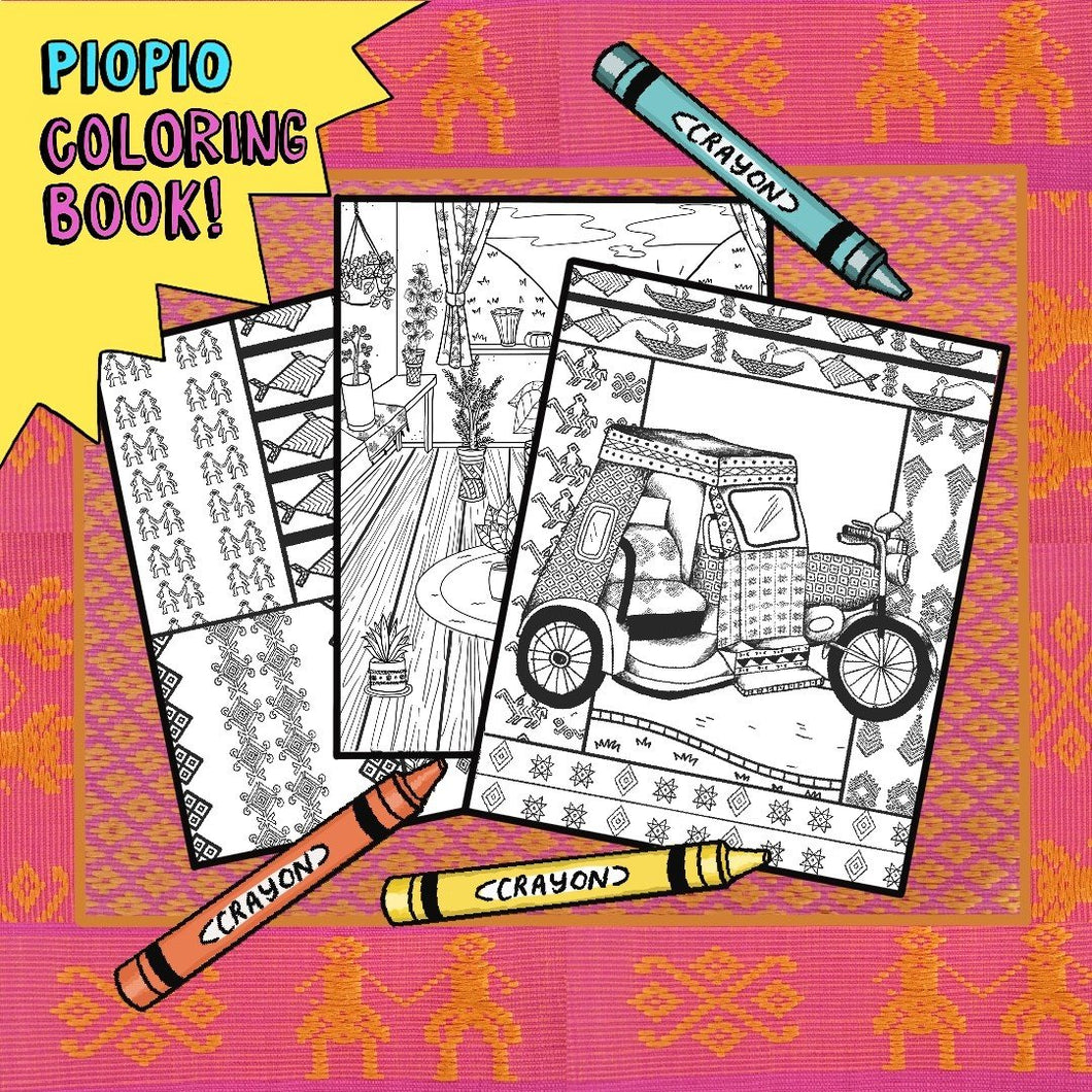 PIOPIO Coloring Book