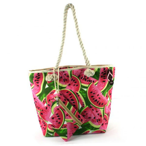WATERMELON BEACH BAG WITH POUCH