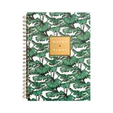 PORTICO DESIGNS ALICE SCOTT A4 NOTES & PLANS TROPICAL LEAF DESIGN
