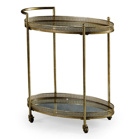 ANTIQUE METAL TROLLEY