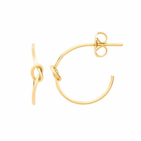 ESTELLA BARTLETT GOLD PLATED KNOT HOOP EARRINGS