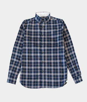 Bridge Button Down Shirt, Navy Check
