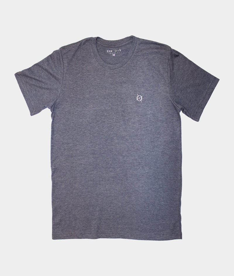 Classic Crew T-Shirt, Heather Navy