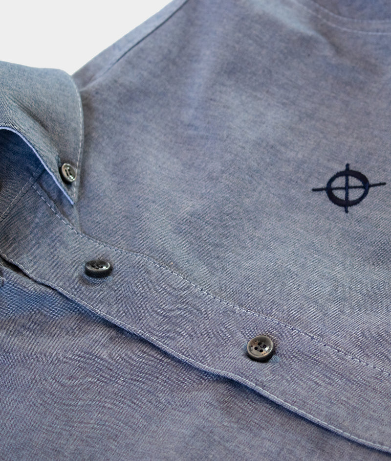 Bridge Button Down Shirt, Light Blue Chambray