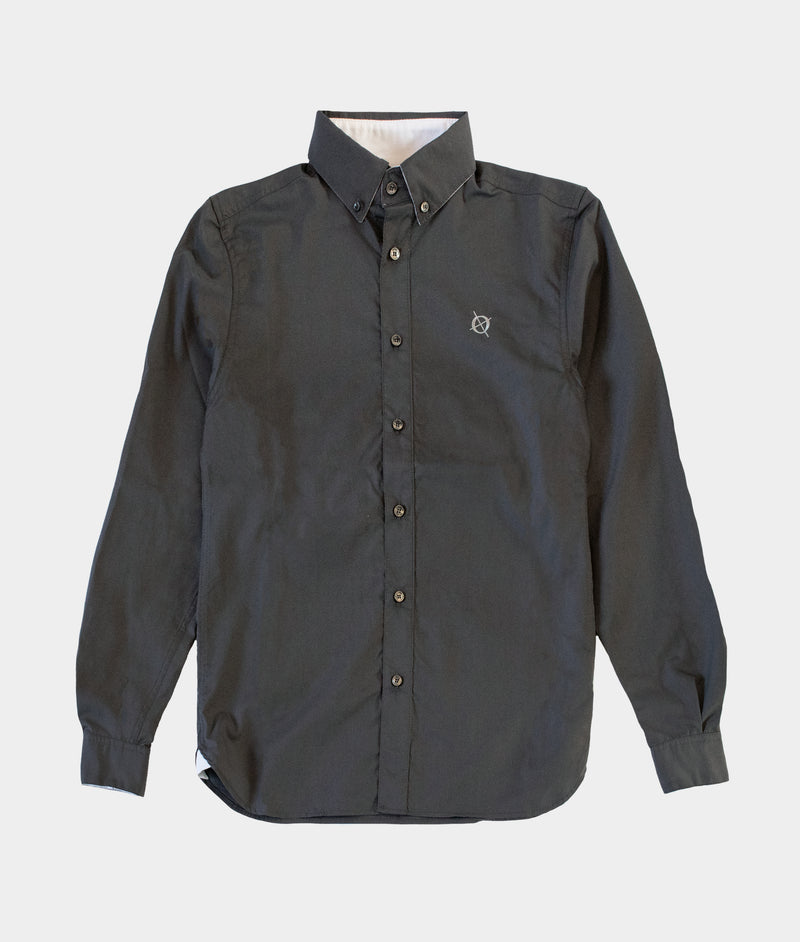 Bridge Button Down Shirt, Charcoal Grey