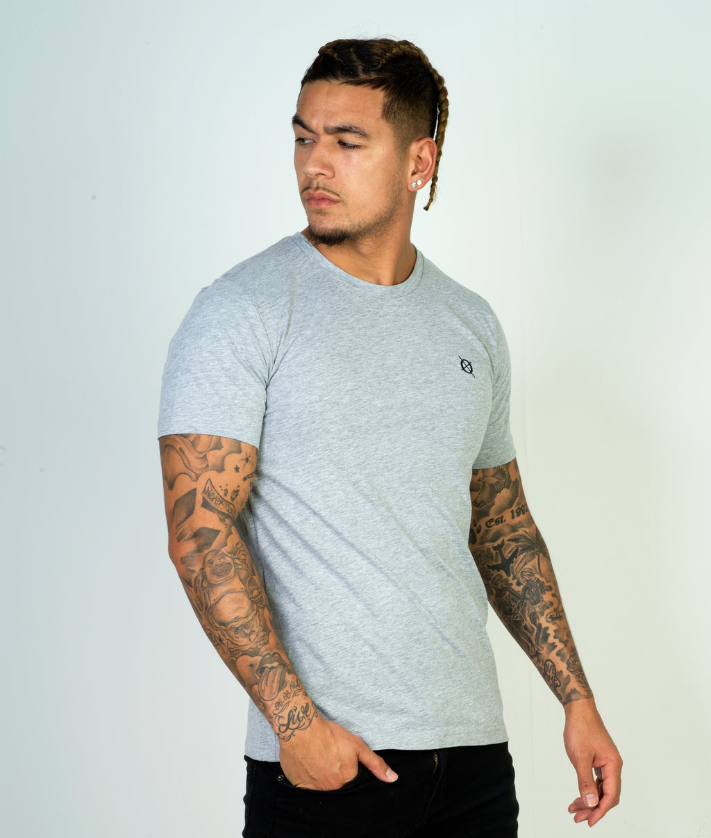 Classic Crew T-Shirt, Heather Grey