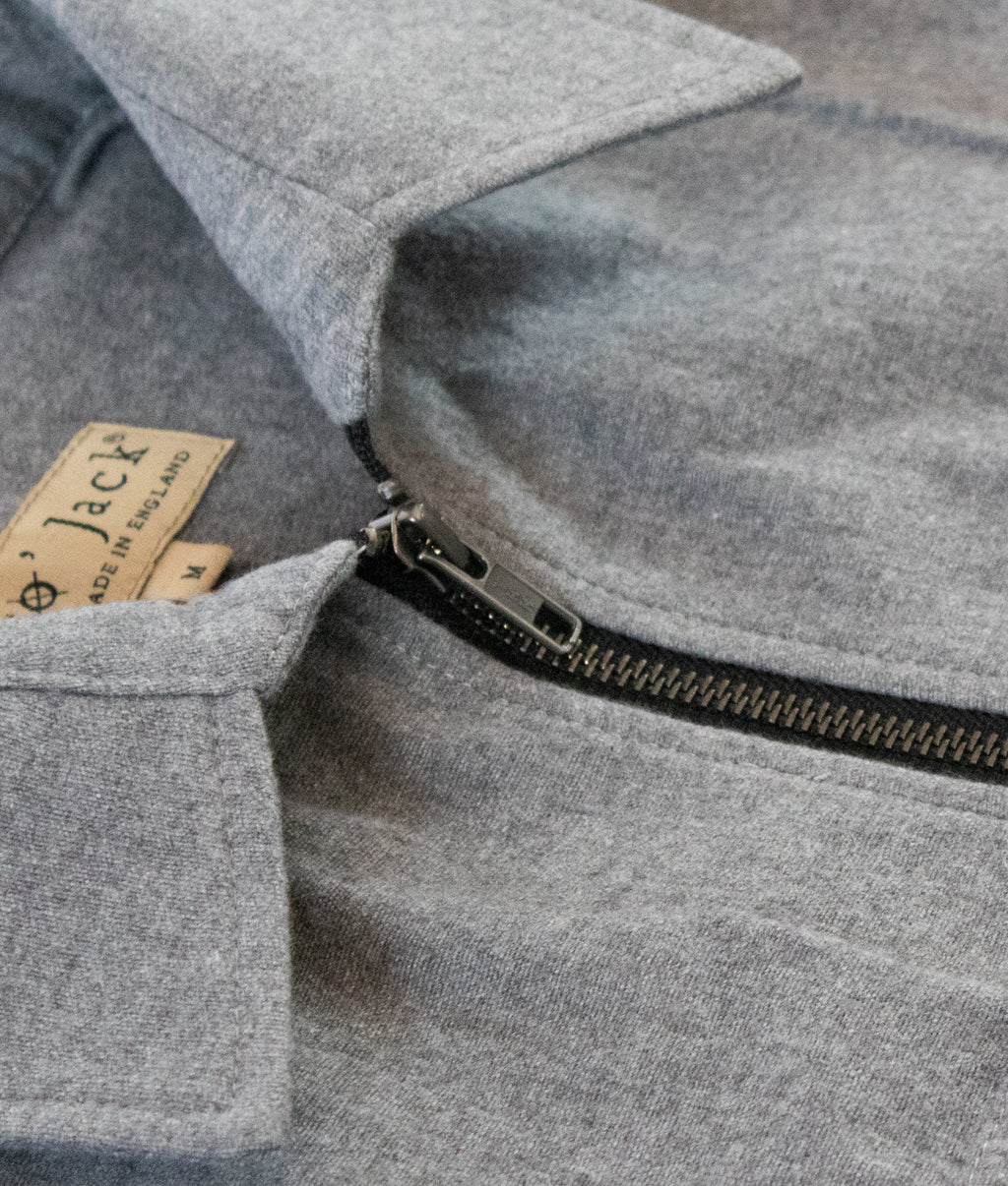 Hank Zip Shacket, Grey