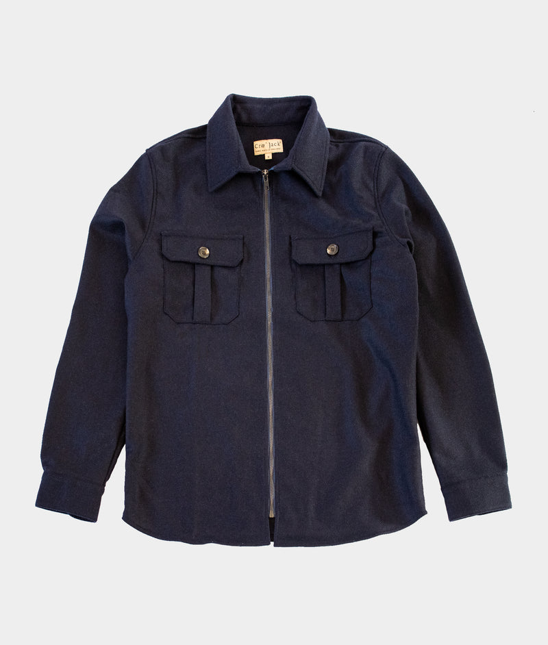 Hank Zip Shacket, Navy