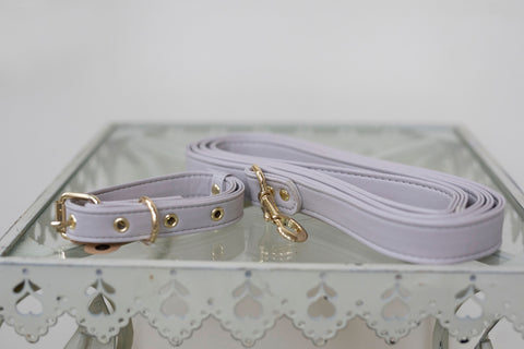 Grey Leash + Collar