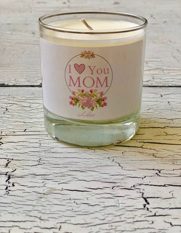 I Love You Mom Candle