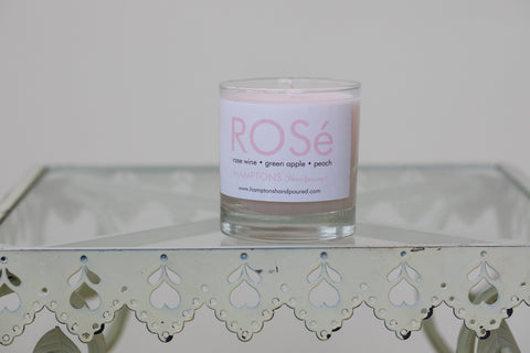 Rose' Candle