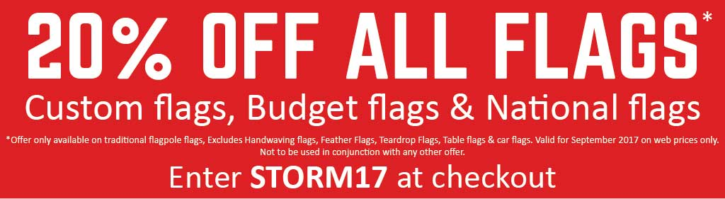 20% OFF Flags